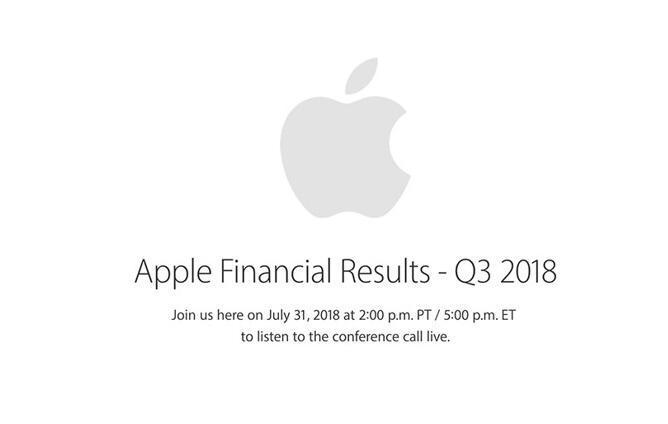 苹果宣布7月31日公布第三财季财报 营收或达535亿美元